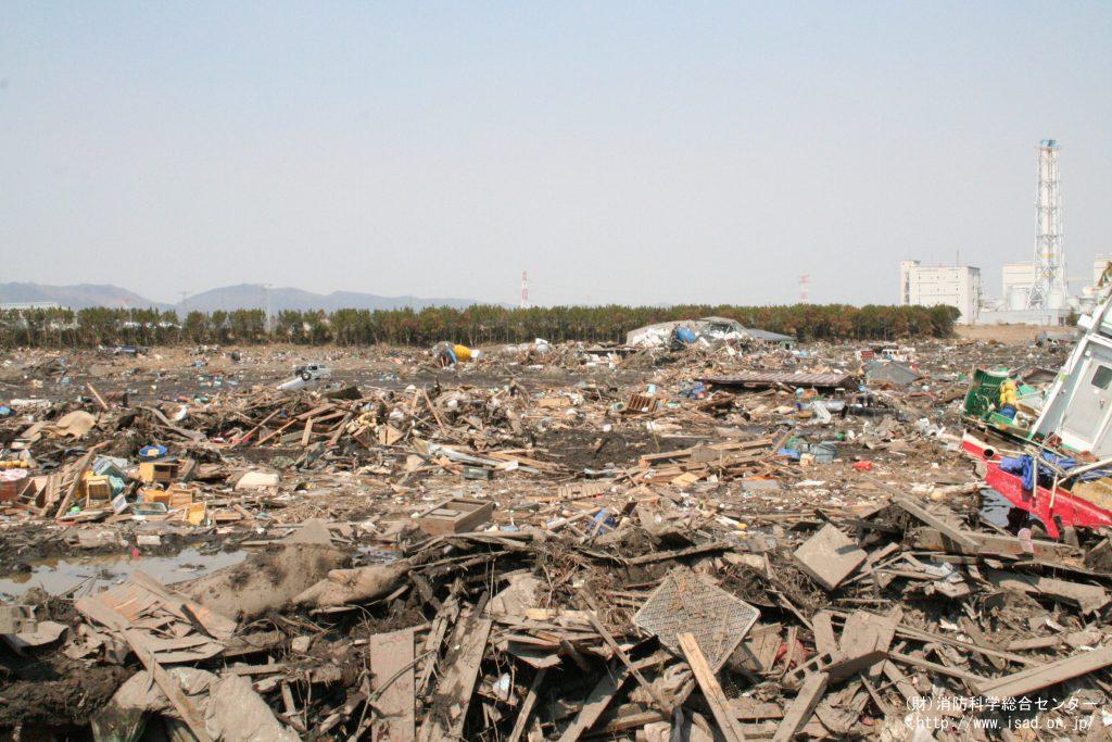 松川浦漁港付近の津波被害の様子