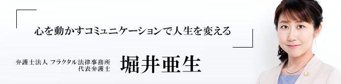 弁護士法人 フラクタル法律事務所 代表弁護士 堀井亜生