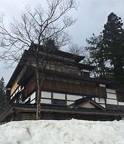 雪が残る風景 秋田県羽後町 マチガク まちの学校
