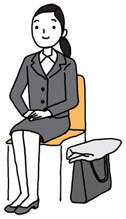 会議室に通されてイスにすわる時のマナーイメージ フランドル×ノビテクマガジン タイアップ企画Vol.1