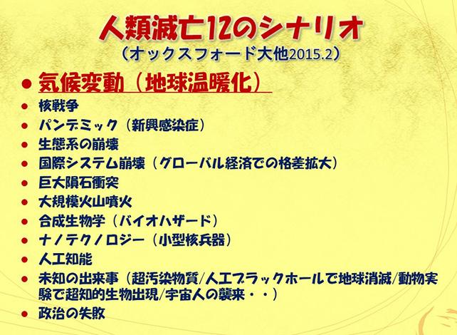 人類滅亡12のシナリオ NHKクローズアップ現代 元NHK科学番組チーフプロデューサー室山哲也の世の中観測